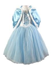 Платье праздничное голубое с накидкой для девочки