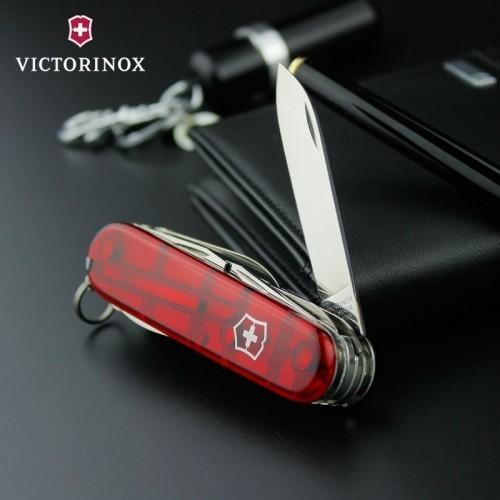 Складной нож Victorinox Huntsman Red Trans (1.3713.T) 91 мм., 15 функций, полупрозрачный красный - Wenger-Victorinox.Ru