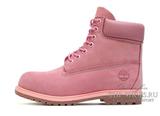 Ботинки Женские Timberland 10061 Waterproof Pink (Мех)