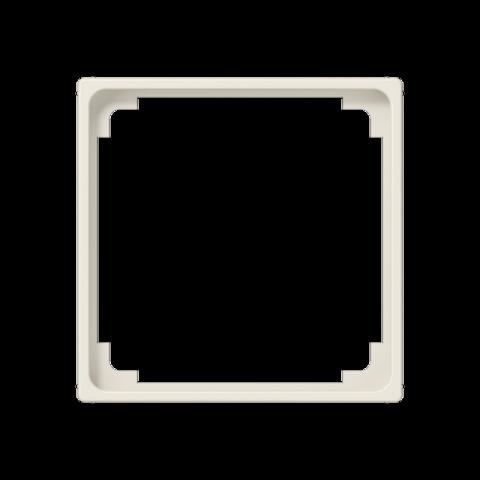 Рамка на 1 пост, промежуточная, для изделий 50х50mm. Цвет Слоновая кость. JUNG AS. A590Z