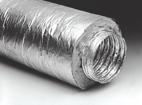 Воздуховод 406 гибкий армированный, теплоизоляция 30мм,металлизированная пленка 70мкм/10м