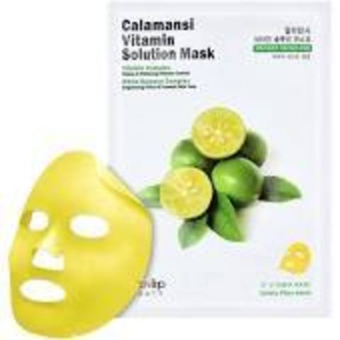 EYENLIP CALAMANSI Маска для лица тканевая витаминная CALAMANSI VITAMIN SOLUTION MASK 25мл