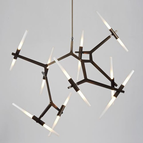 replica Lindsey Adelman 20 Bulbs Agnes Chandelier ( black )