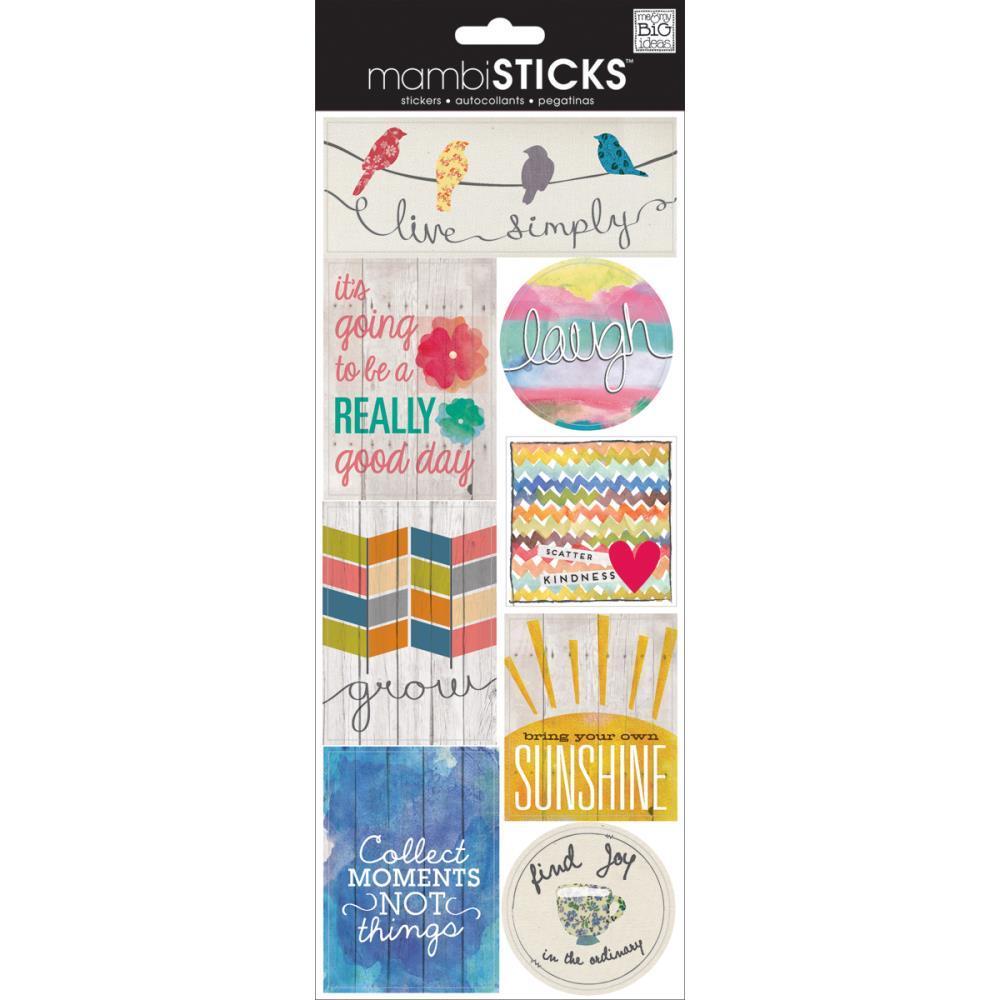 Стикеры  mambi Specialty Stickers Live Simply 13х30 см