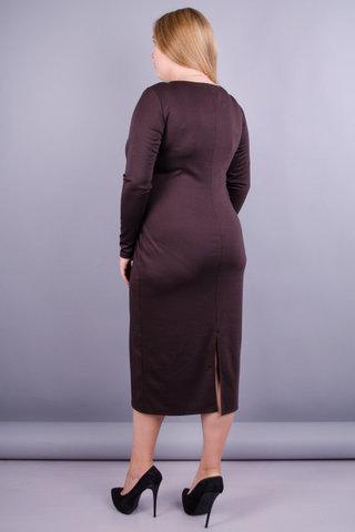 Мирослава француз. Гарна сукня великих розмірів. Шоколад.