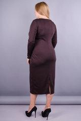 Мирослава француз. Красивое платье больших размеров. Шоколад.