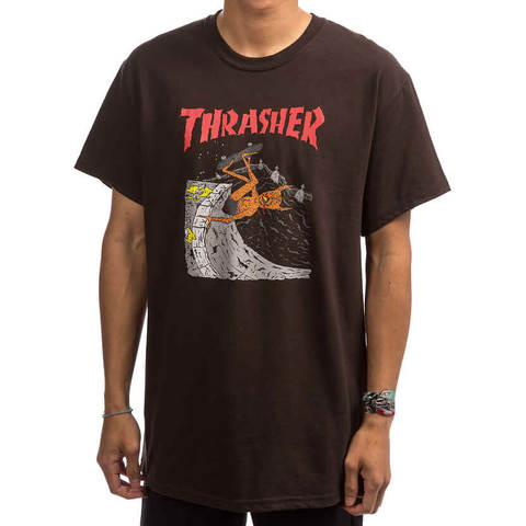 Футболка THRASHER Neckface Invert (Brown)