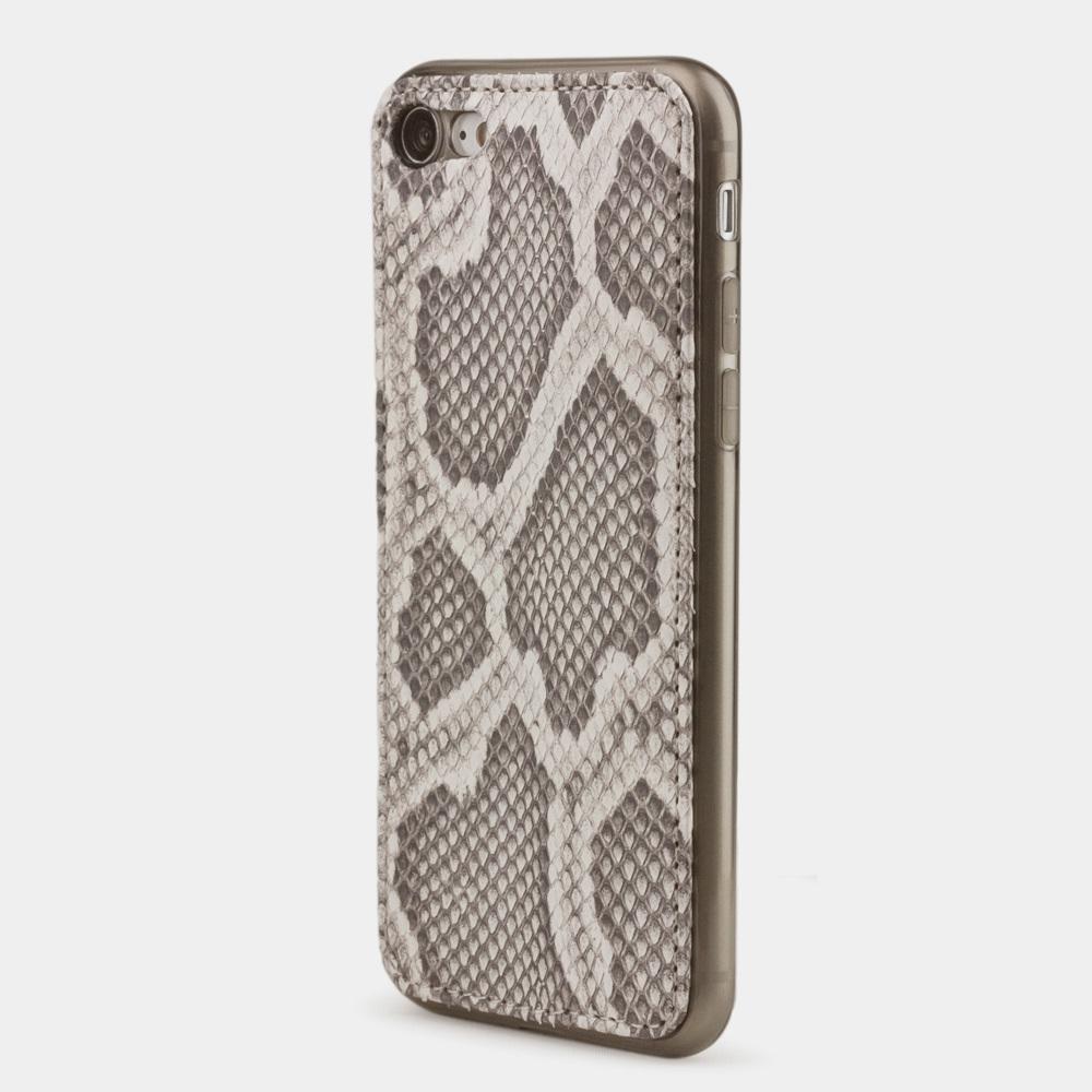 Чехол-накладка для iPhone 8 из натуральной кожи питона, цвета Natur