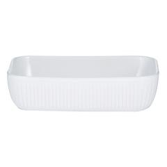 Блюдо для запекания 24х16см  Linear прямоугольное белое Mason Cash