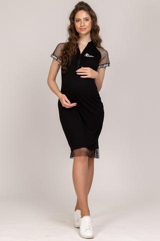 Платье для беременных и кормящих 10148 черный