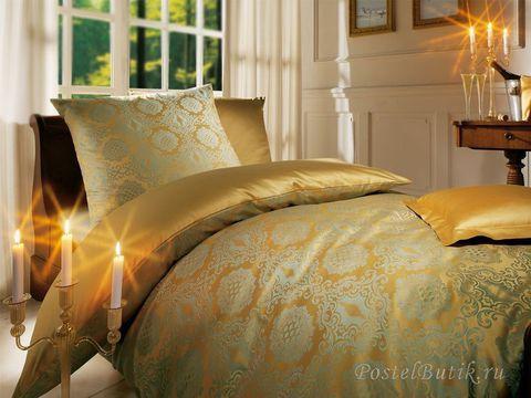 Постельное белье 2 спальное евро Curt Bauer Bologna золотое