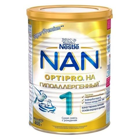 NAN® 1 OPTIPRO®   гипоаллергенный Cухая молочная смесь  с рождения 400гр