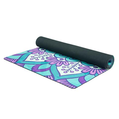 Коврик для йоги Лесной 183*61*1-3,5мм из микрофибры и каучука
