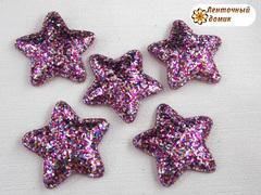 Мягкая блестящая звезда малиновая  №4