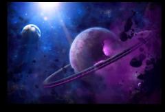 """Постер """"Фиолетовая планета"""""""