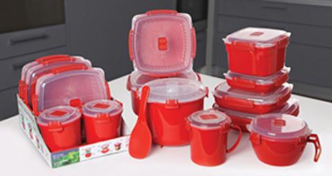 Контейнер для микроволновки Sistema Microwave, красный 1,25 л