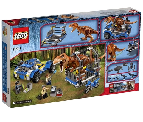 LEGO Jurassic World: Охотник на тираннозавра (Охота на Ти-рекса) 75918 — T-Rex Tracker — Лего Мир юрского периода