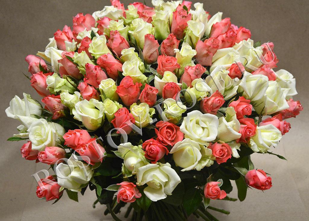 Букет Микс из 101 местной розы