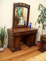 """Туалетный столик """"Нотти"""" с зеркалом+ Банкетка —  Темный орех (MK-нотти10)"""