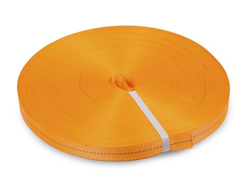 Лента текстильная для ремней TOR  25 мм 1200 кг (оранжевый)