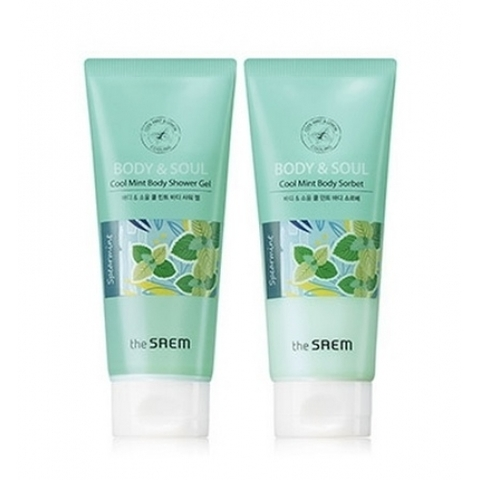 THE SAEM Body & Soul Набор для тела BODY & SOUL Cool Mint Body Set 2*200мл