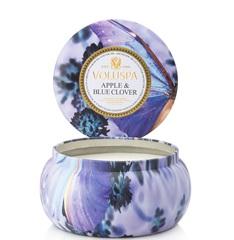 Ароматическая свеча Voluspa Яблоко и голубой клевер в алюминевой банке с 2 фитилями