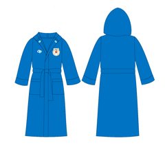 ОБРАЗЕЦ халата махрового Diapolo с эмблемой НОК (Национального Олимпийского Комитета)