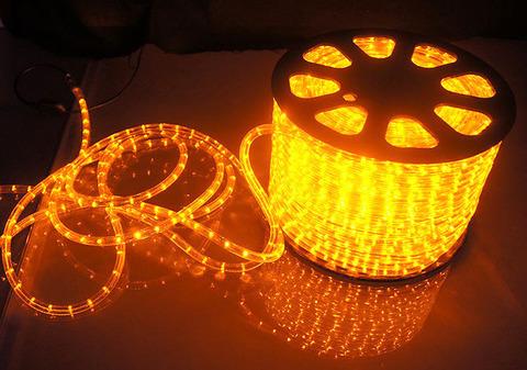 Дюралайт светодиодный, чейзинг, 11мм - 3 жилы - 24 led/m, Желтый