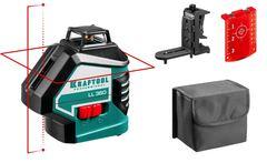 KRAFTOOL LL360 #2 нивелир лазерный, 2х360° , 20м/70м,  IP54, точн. +/-0,2 мм/м, держатель, в сумке
