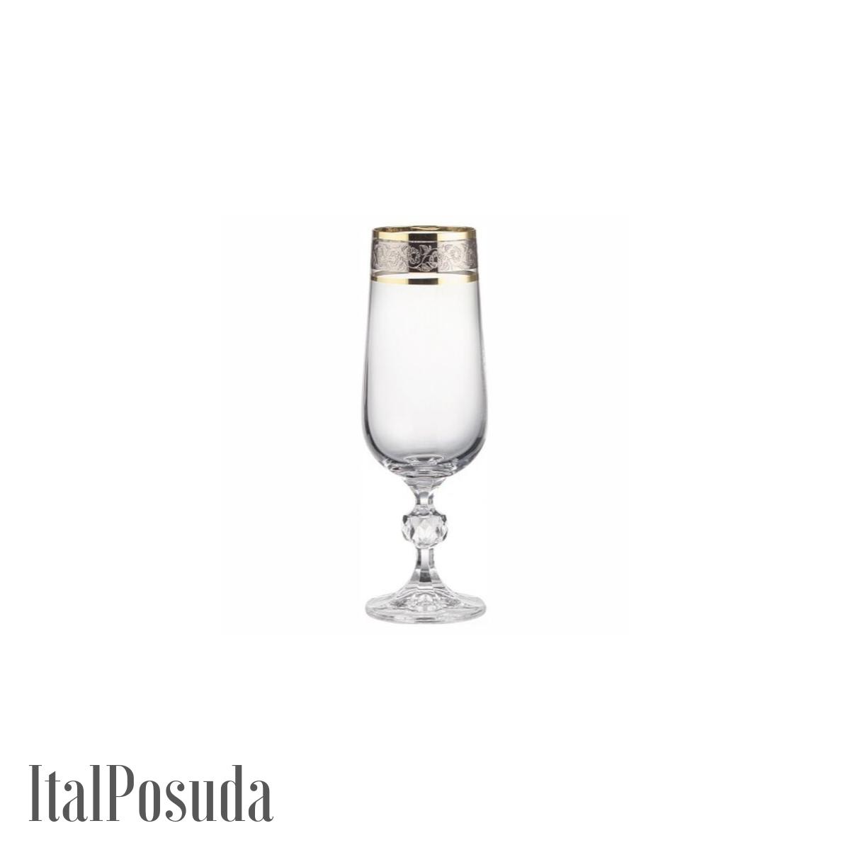 Набор фужеров для шампанского Bohemia Claudia (Клаудия), 6шт BOHEMIA12041