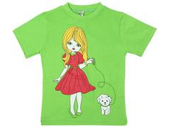 19065-11 футболка для девочек, зеленая