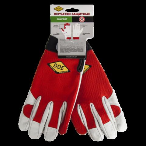Перчатки DDE  СOMFORT  кожа /спандекс, размер  L