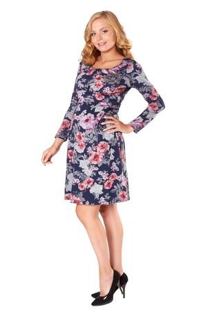 Платье для беременных и кормящих 07785 синий