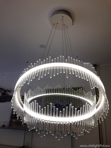 replica Saturno LED 2 rings clear  Pendant by Baroncelli 2