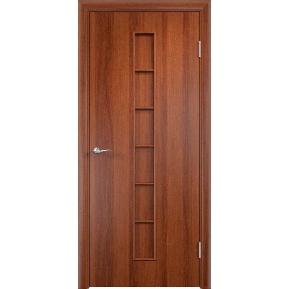 Ламинированные двери Лесенка итальянский орех без стекла lesenka-pg-ital-oreh-dvertsov-min.jpg