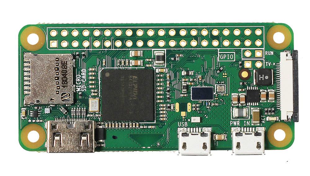 Raspberry Pi Zero W (вид сверху)
