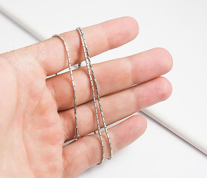 SSNH-0188Оригинальная мужская цепочка «Spikes» из ювелирной стали (55 см) фото 04