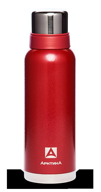Термос Арктика (1,2 литра) с узким горлом американский дизайн, красный