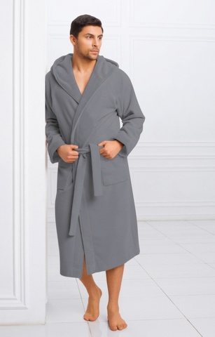 Мужской бамбуковый халат с капюшоном 11008-4 Laete Турция