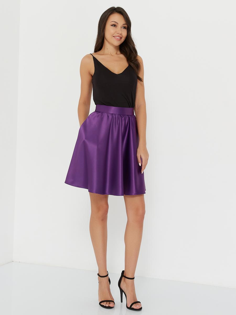 Юбка шелковая Lilac