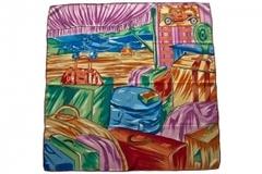 Шёлковый женский разноцветный платок 5826