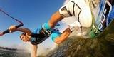 Крепление на доску для серфинга/вейка GoPro Surf Mounts (ASURF-001) пример использования