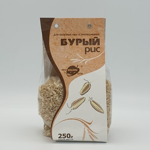 Рис Бурый для каш и проращивания ОБРАЗ ЖИЗНИ, 250 гр