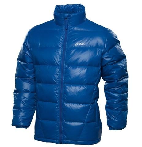 Куртка-пуховик Asics Down Jacket мужская синяя