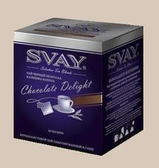Черный чай Svay Chocolate Delight (Шоколадное искушение) в саше (20 саше по 2 гр.)