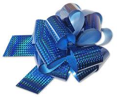 Бант-шар голография (синий) 50x160 большой