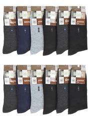 F506-6 носки мужские 40-47 (12шт), цветные