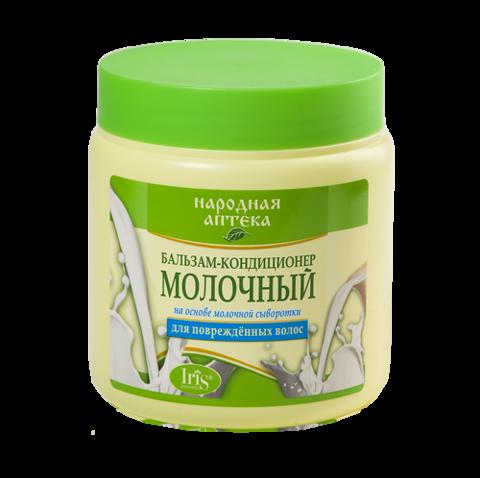 Iris Народная аптека Бальзам-кондиционер Молочный для поврежденных волос 500мл