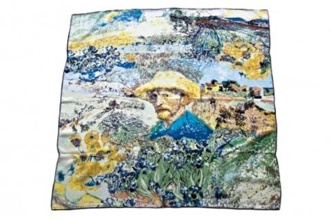 Итальянский платок из шелка картина 1026