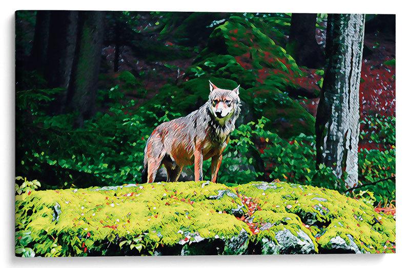 Картина Волк в лесу– купить в интернет-магазине, цена ...